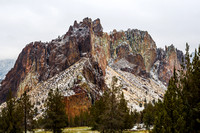 Snow on Smith Rock