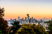 Autumn Sunset Over Seattle by Professional Photographer William Dziuk